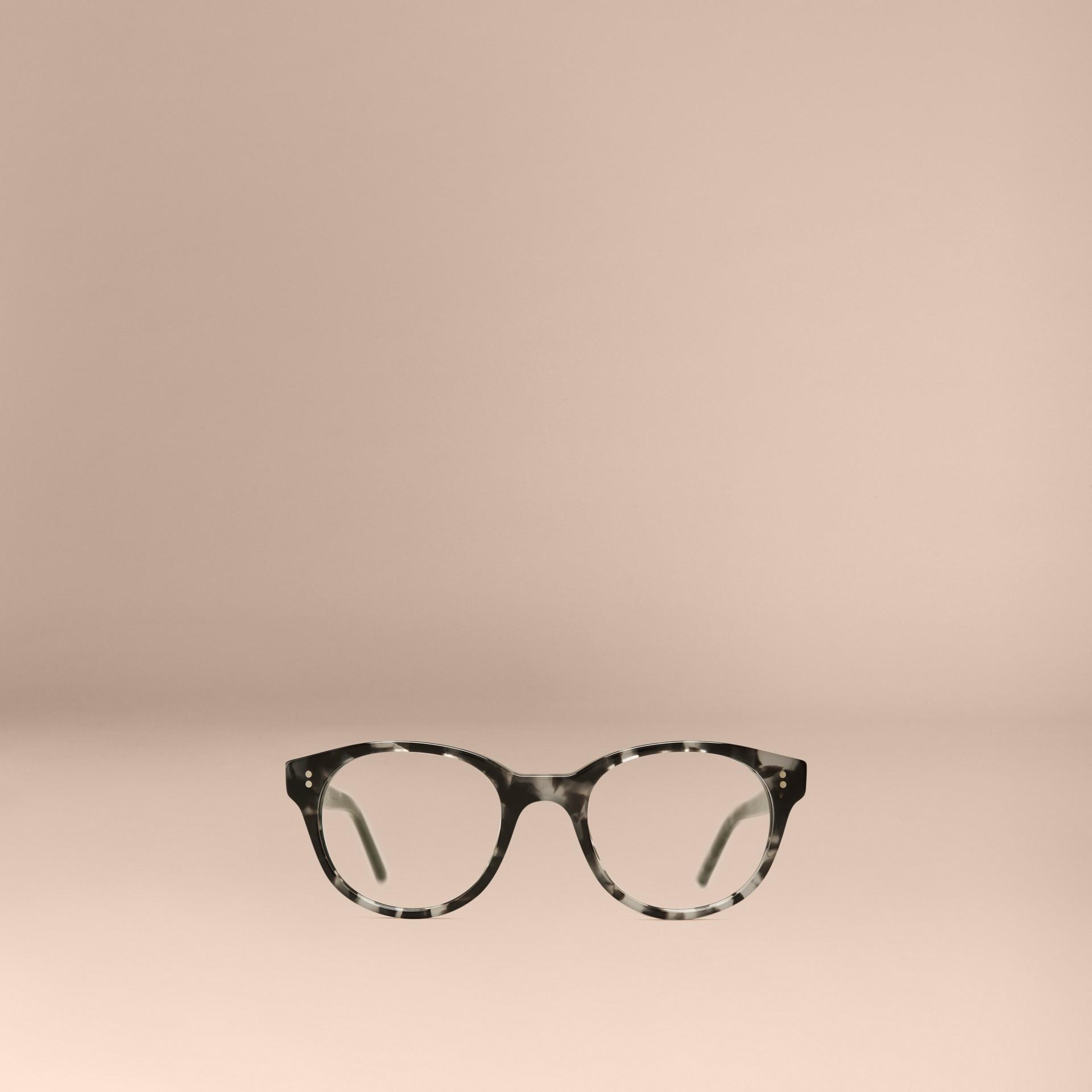 Gris Monture ronde pour lunettes de vue Gris - photo de la galerie 2