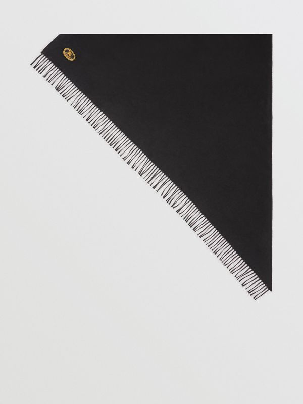 The Burberry Bandana in Embroidered Cashmere in Black | Burberry - cell image 3