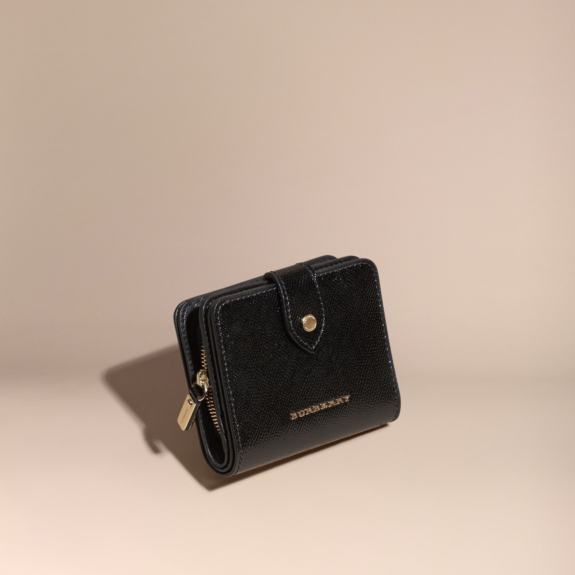 Black Patent London Leather Wallet Black - gallery image 1