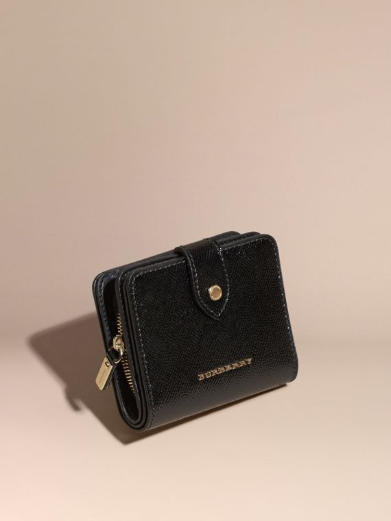 Patent London Leather Wallet Black