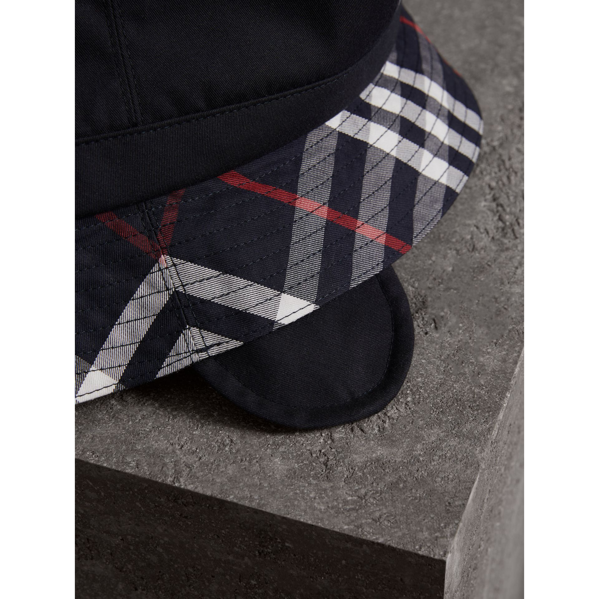 Gosha x Burberry Bucket Hat in Navy | Burberry United Kingdom - gallery image 1