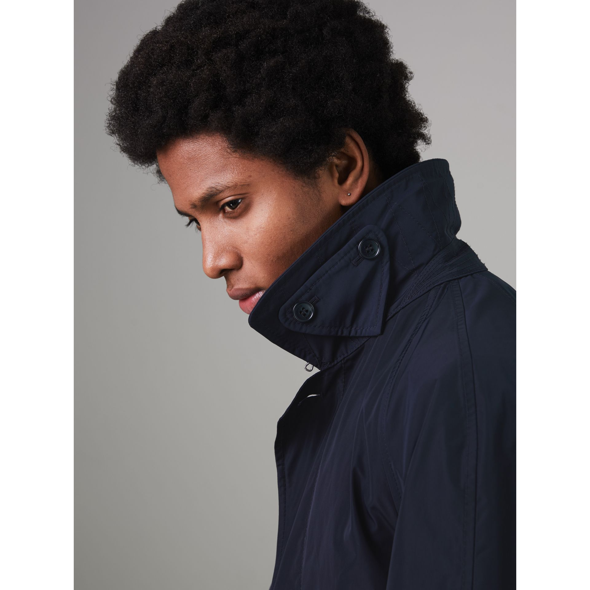 Shape-memory Taffeta Car Coat with Warmer in Navy - Men | Burberry Singapore - gallery image 4