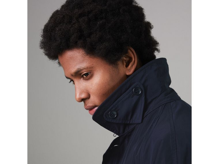 Shape-memory Taffeta Car Coat with Warmer in Navy - Men | Burberry Singapore - cell image 4