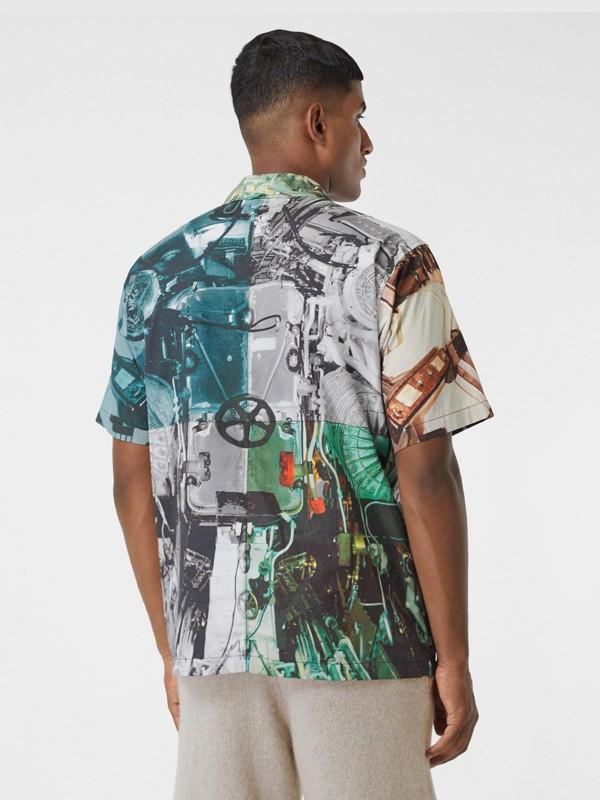 Short-sleeve Submarine Print Cotton Shirt in Multicolour - Men | Burberry United Kingdom - cell image 2