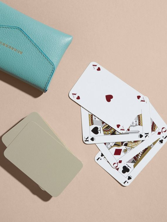 Grainy Leather Playing Card Case in Pale Opal | Burberry - cell image 3