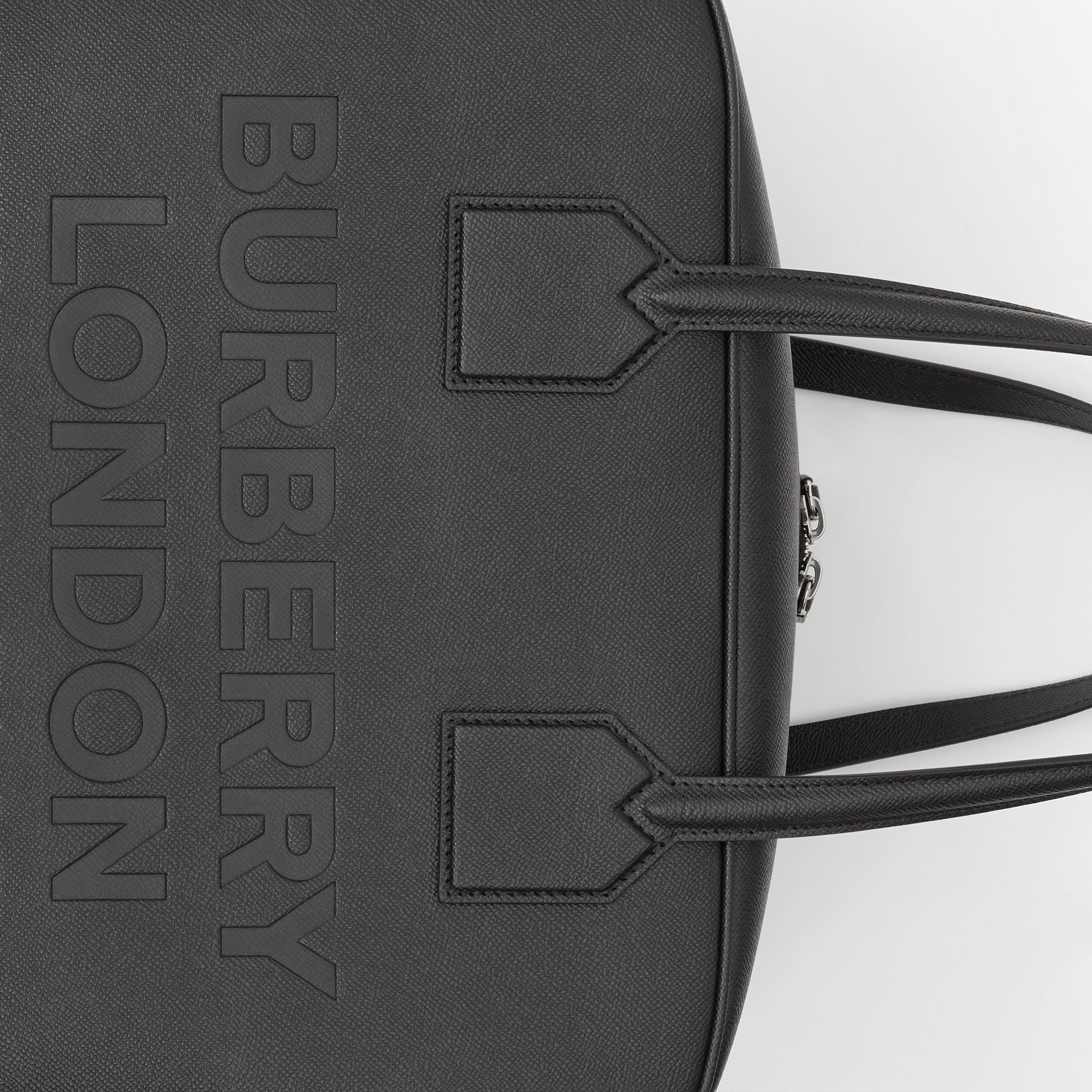 Grand sac Cube en cuir (Noir) | Burberry - photo de la galerie 1
