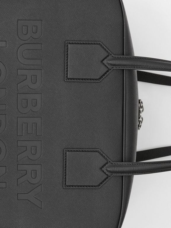 Large Leather Cube Bag in Black | Burberry - cell image 1