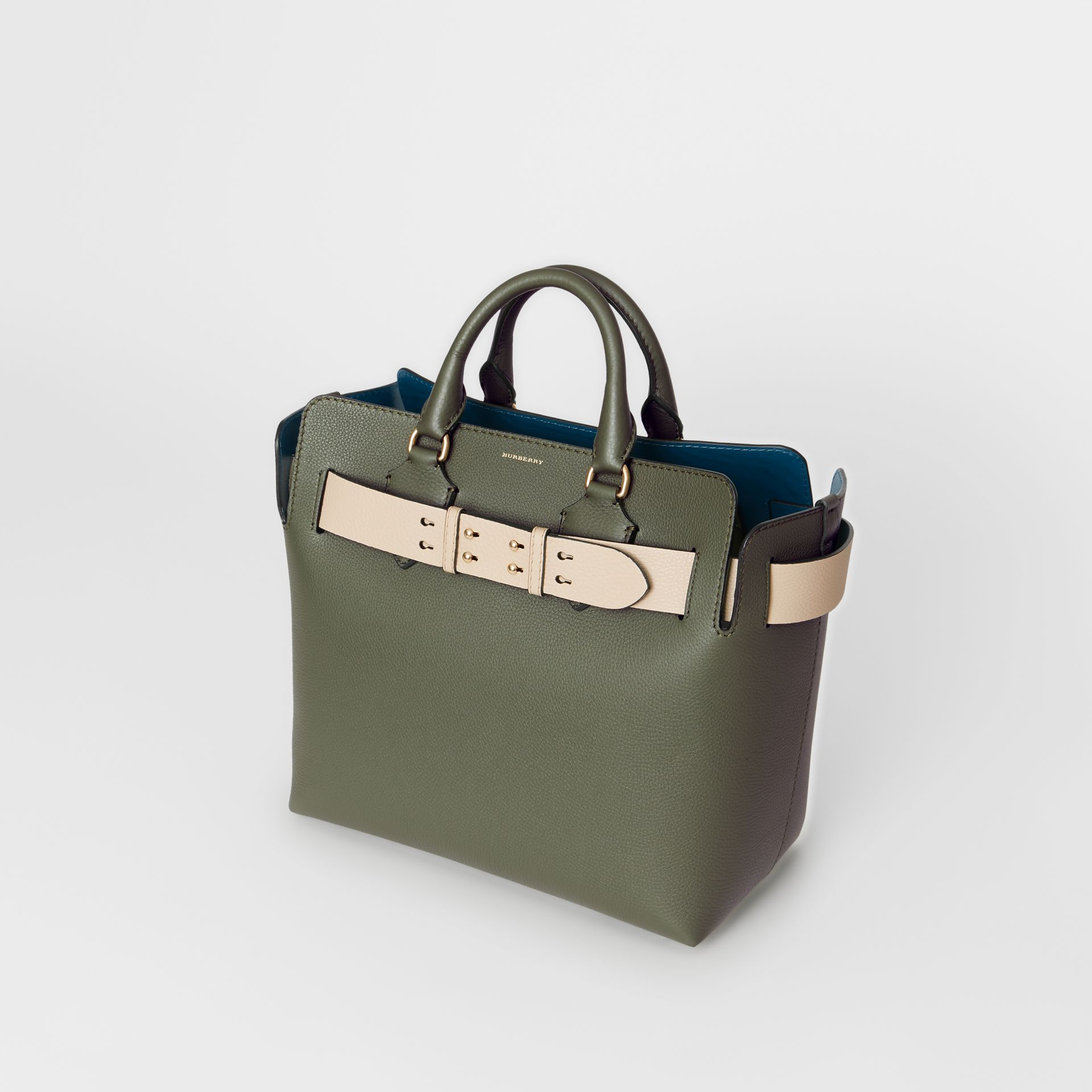 The Medium Leather Belt Bag in Sage Green - Women | Burberry United Kingdom - gallery image 4