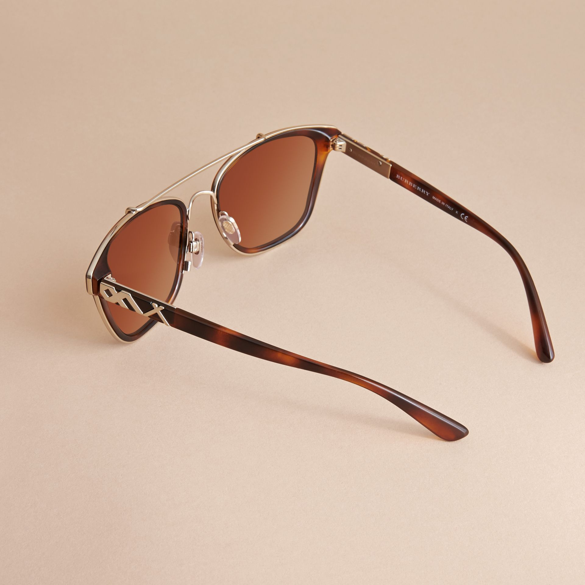 Top Bar Square Frame Sunglasses in Tortoiseshell - gallery image 4