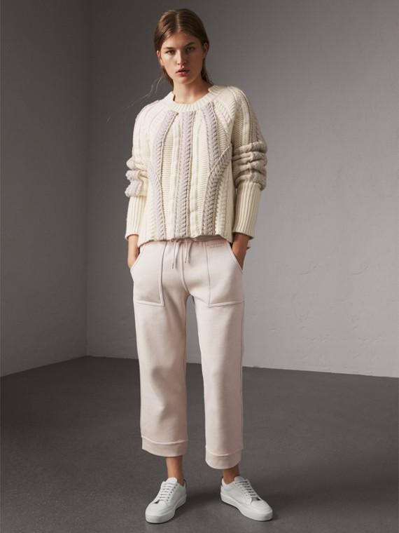 Pantalon de survêtement 7/8 en jersey (Blanc Hivernal)
