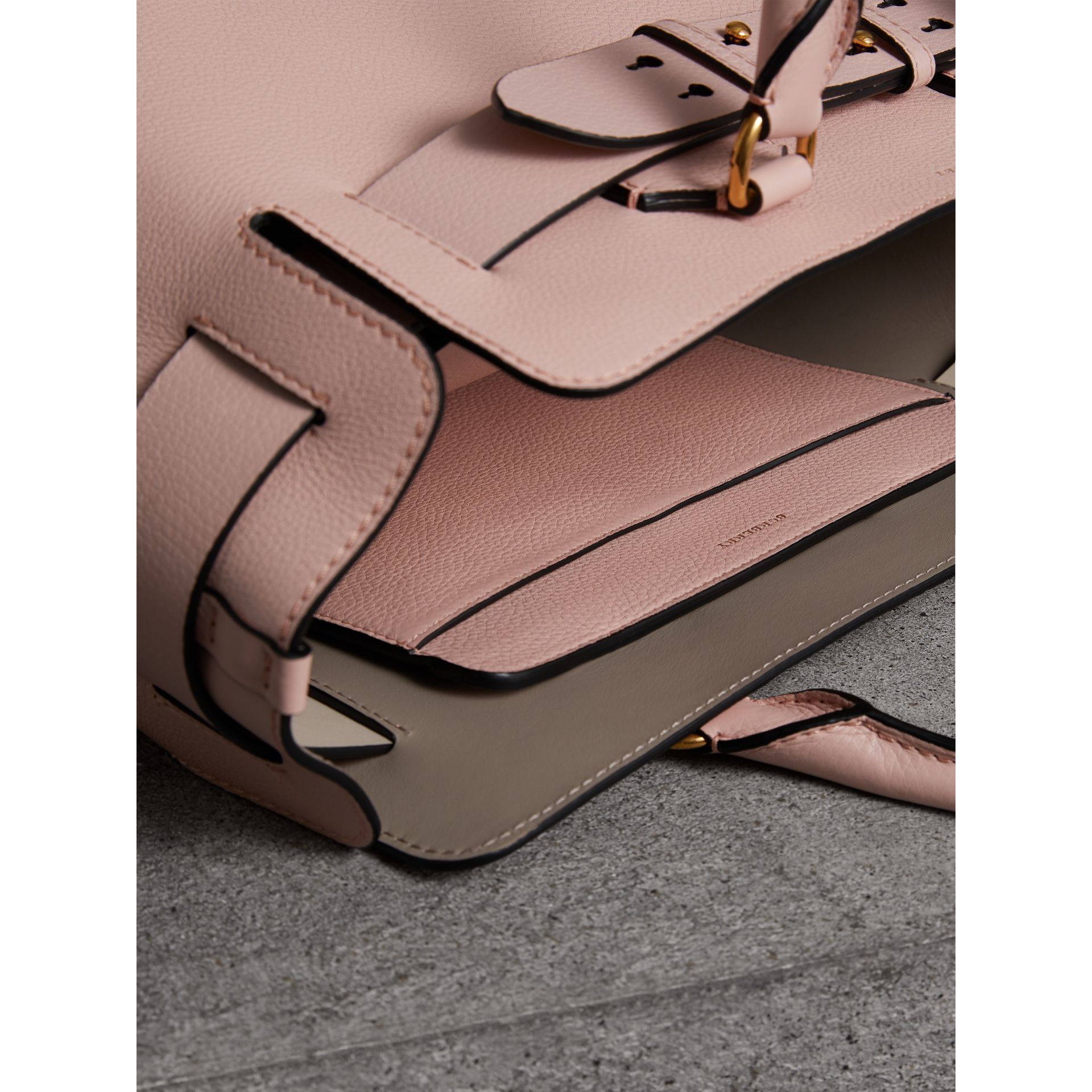 The Medium Leather Belt Bag in Pale Ash Rose - Women | Burberry United States - gallery image 5