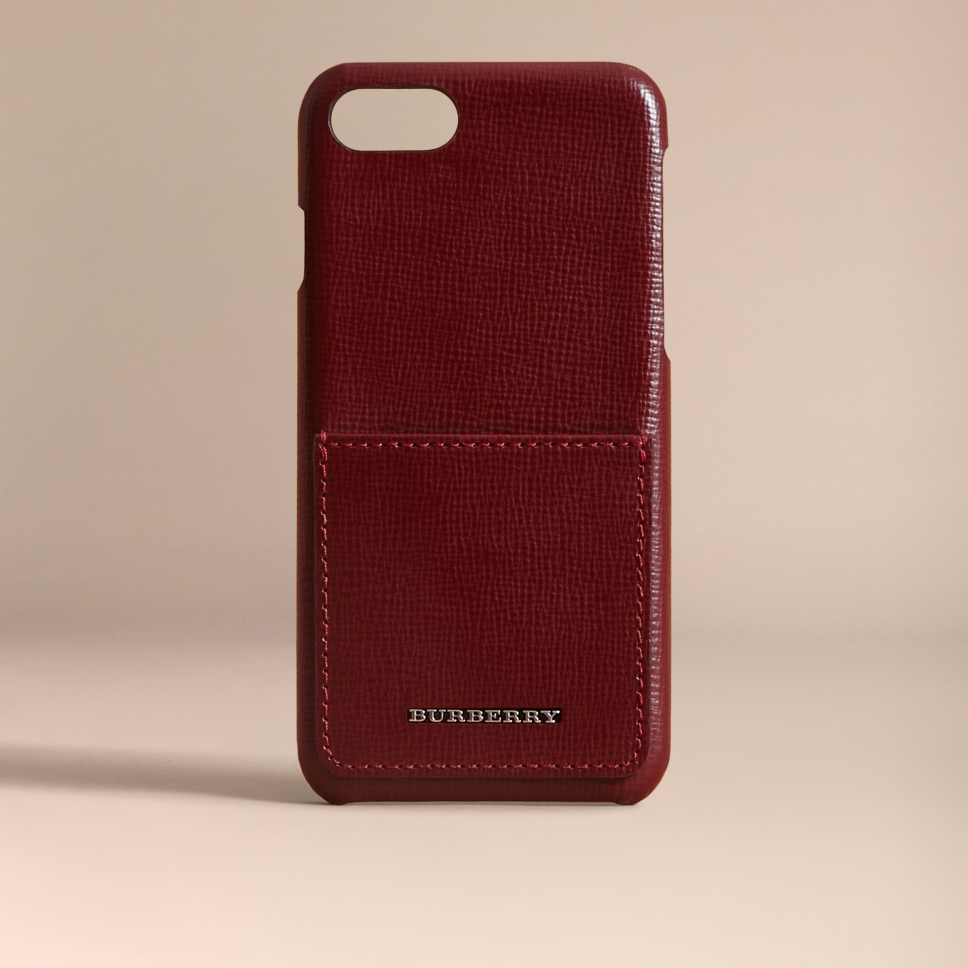 Grainy Leather iPhone 7 Case Burgundy Red - gallery image 5