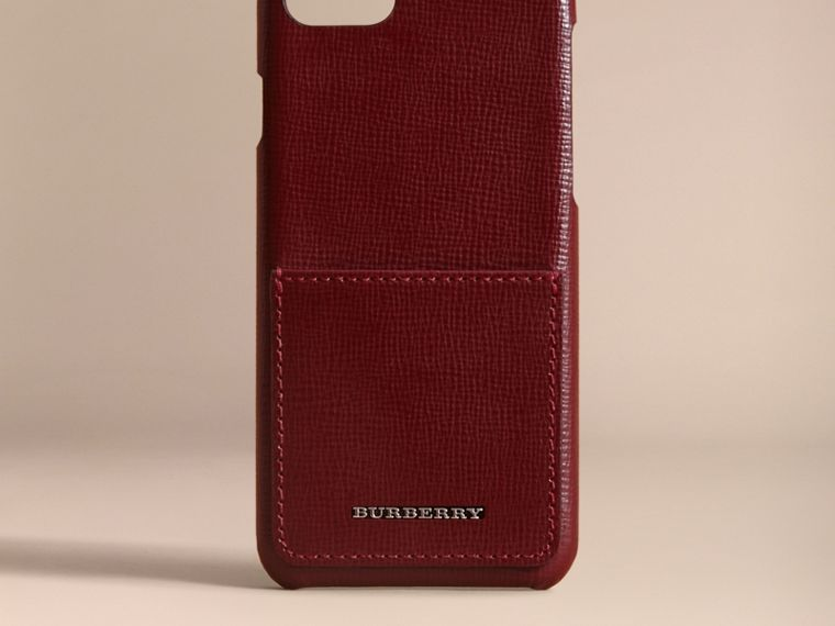 Grainy Leather iPhone 7 Case Burgundy Red - cell image 4