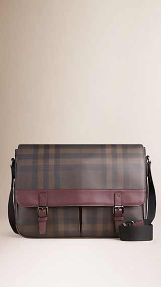 Sac Messenger à motif Smoked check