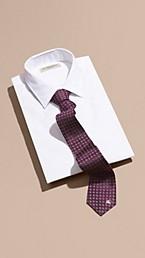 Modern Cut Paisley Jacquard Silk Tie