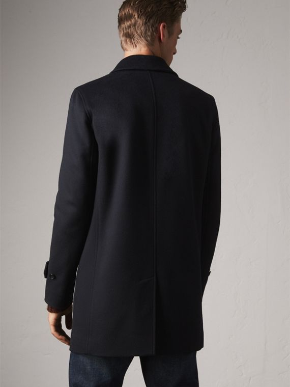 Wool Cashmere Car Coat in Navy - Men | Burberry Singapore - cell image 2