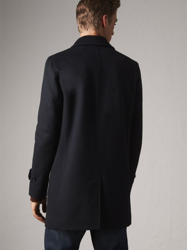 Wool Cashmere Car Coat in Navy | Burberry - cell image 2