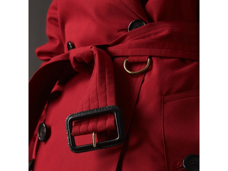 The Kensington - Trench coat Heritage medio (Rosso Parata) - Donna | Burberry - cell image 4