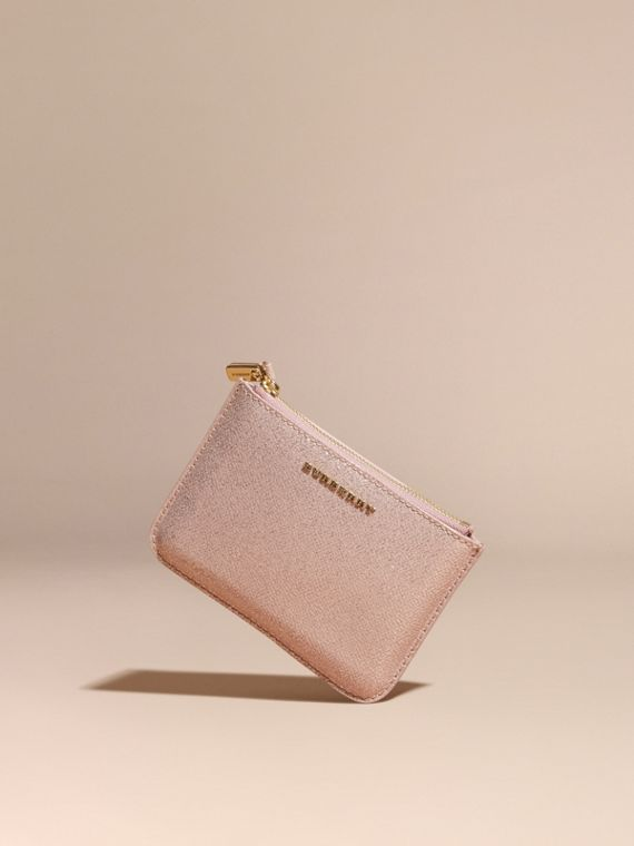 Glitter Leather Pouch in Pale Orchid - cell image 2