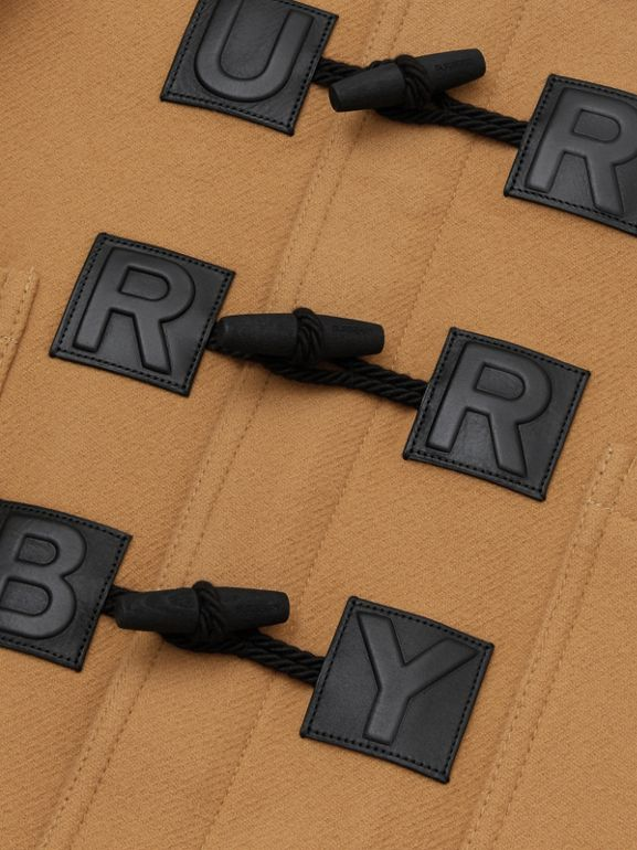 Logo Detail Wool Cashmere Blend Duffle Coat in Antique Yellow | Burberry - cell image 1