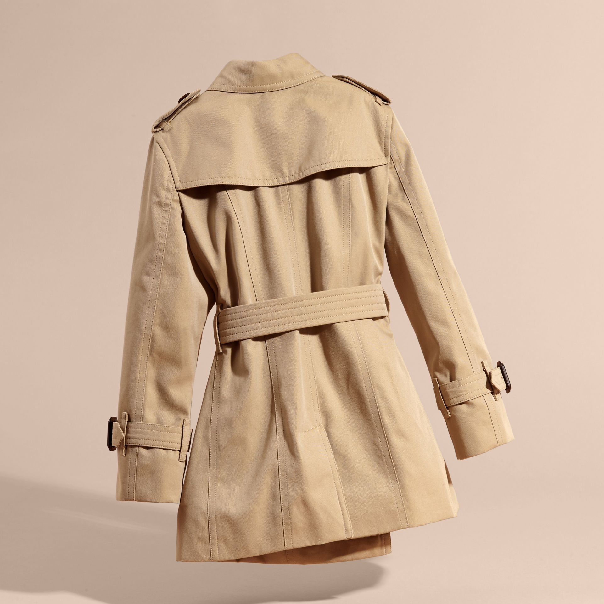 Appliquéd Weather Motif Cotton Trench Coat - gallery image 4