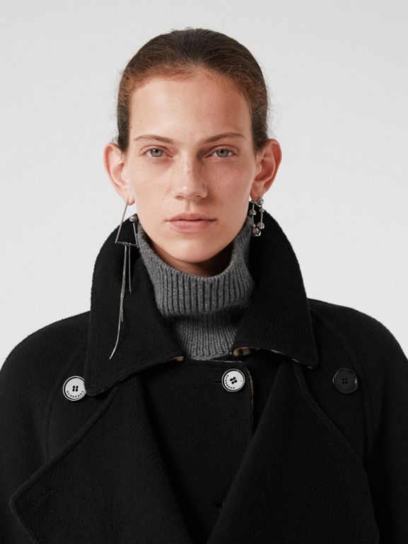 Double-Front Cashmere Car Coat in Black - Women | Burberry United Kingdom - cell image 1