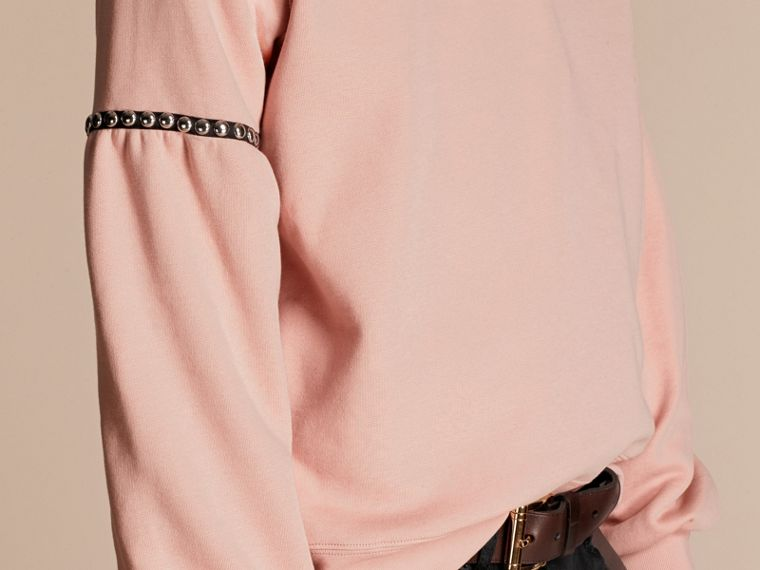 Dusty pink Bell-sleeved Cotton Blend Sweatshirt - cell image 4