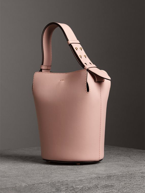 The Small Leather Bucket Bag in Pale Ash Rose - Women | Burberry United Kingdom - cell image 3