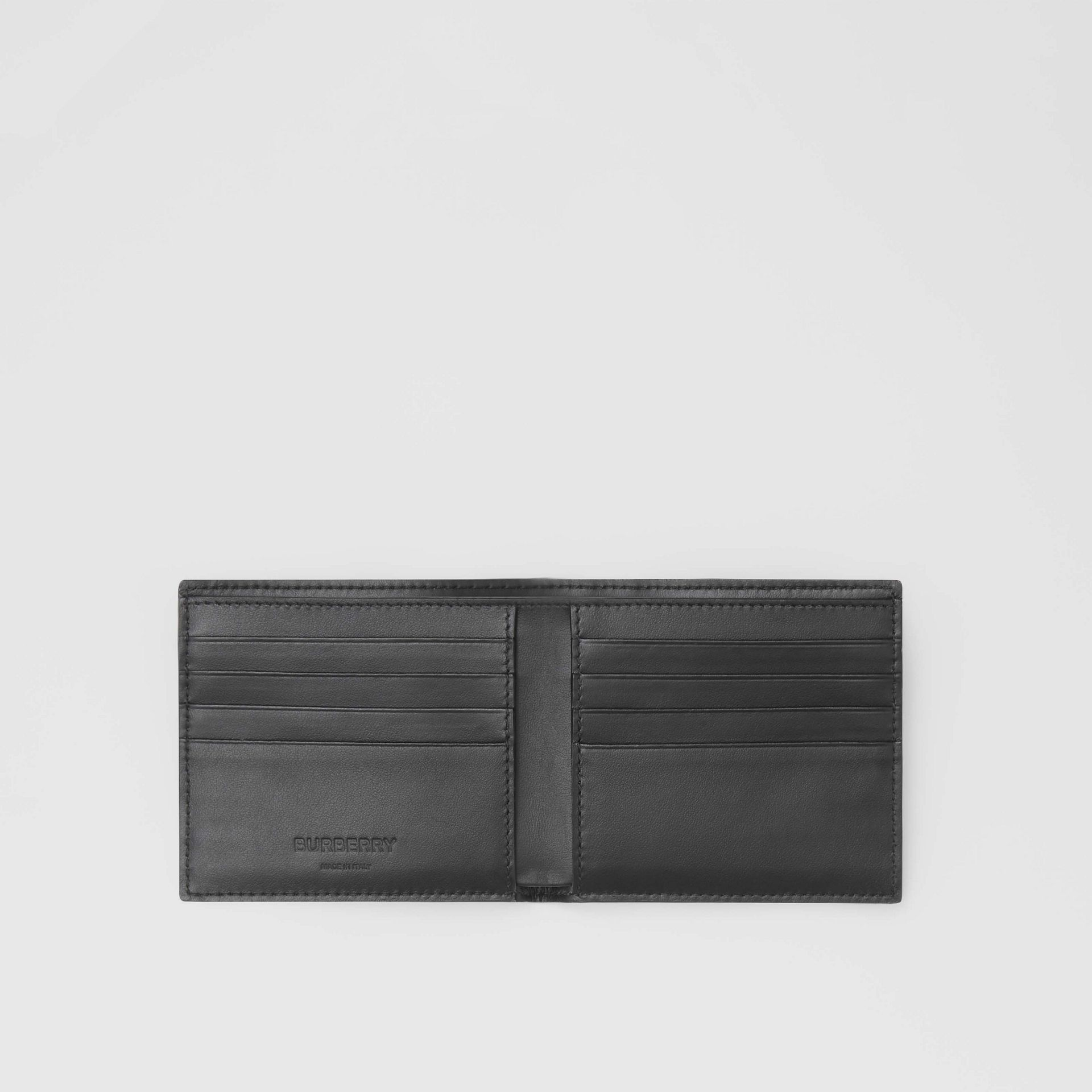 Cow Print Leather International Bifold Wallet in Black/white - Men | Burberry Australia - gallery image 2