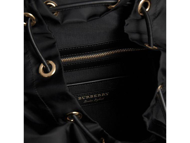 The Large Rucksack in Technical Nylon and Snakeskin in Black/bright Green - Women | Burberry - cell image 4