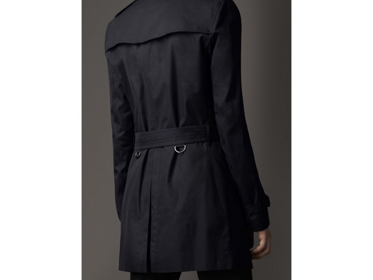 Cotton Gabardine Trench Coat in Navy - Men | Burberry - cell image 1