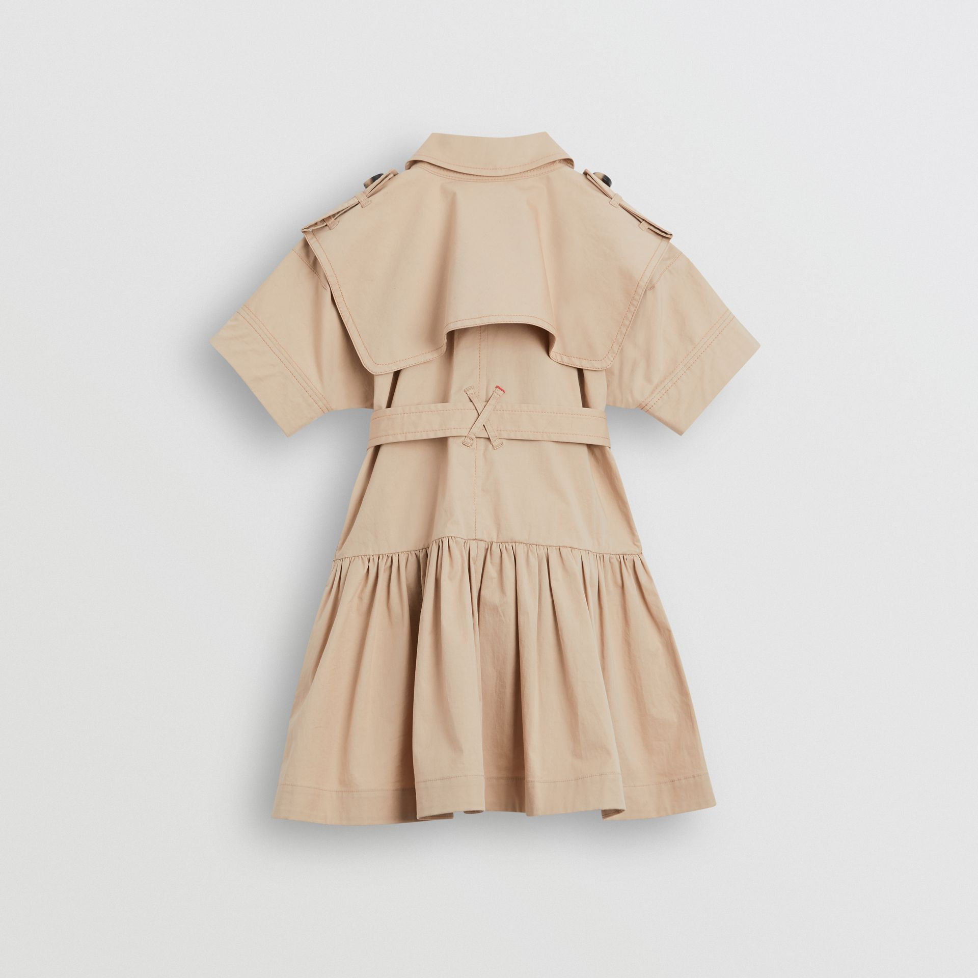 Stretch Cotton Trench Dress in Honey | Burberry Hong Kong - gallery image 3