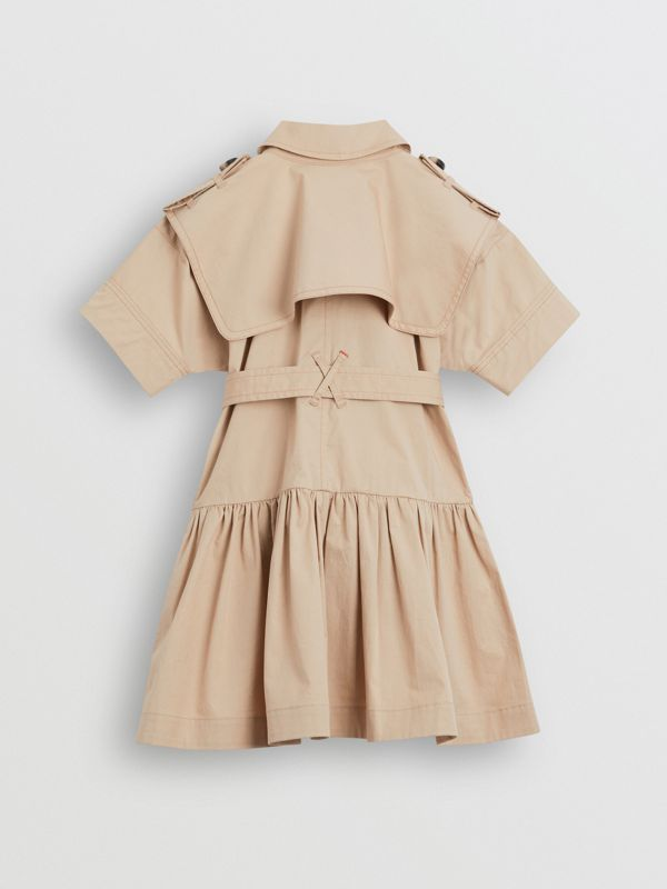 Robe trench en coton stretch (Miel) | Burberry Canada - cell image 3