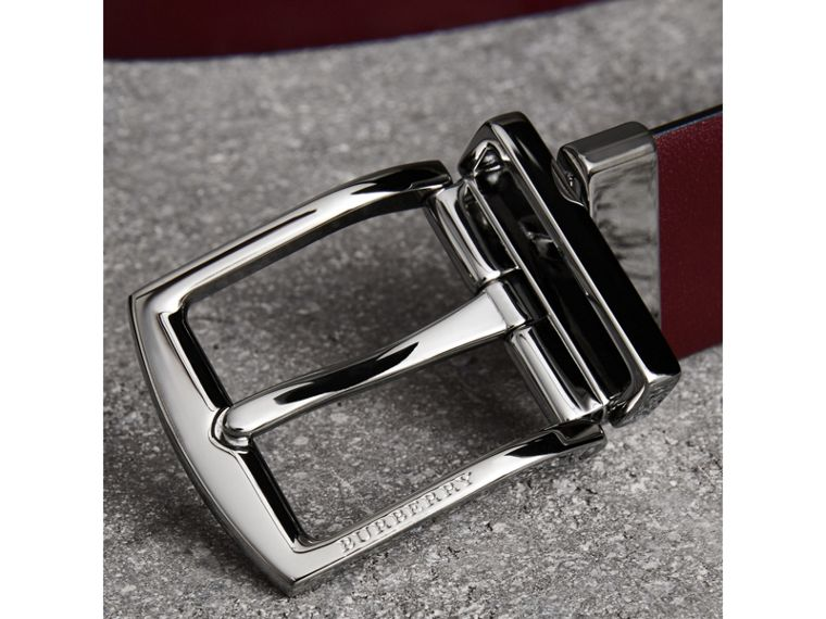 Reversible Leather Belt in Auburn - Men | Burberry - cell image 1
