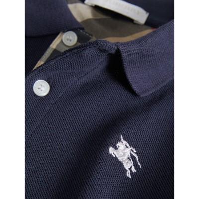 Burberry - Polo avec patte à motif check - 2