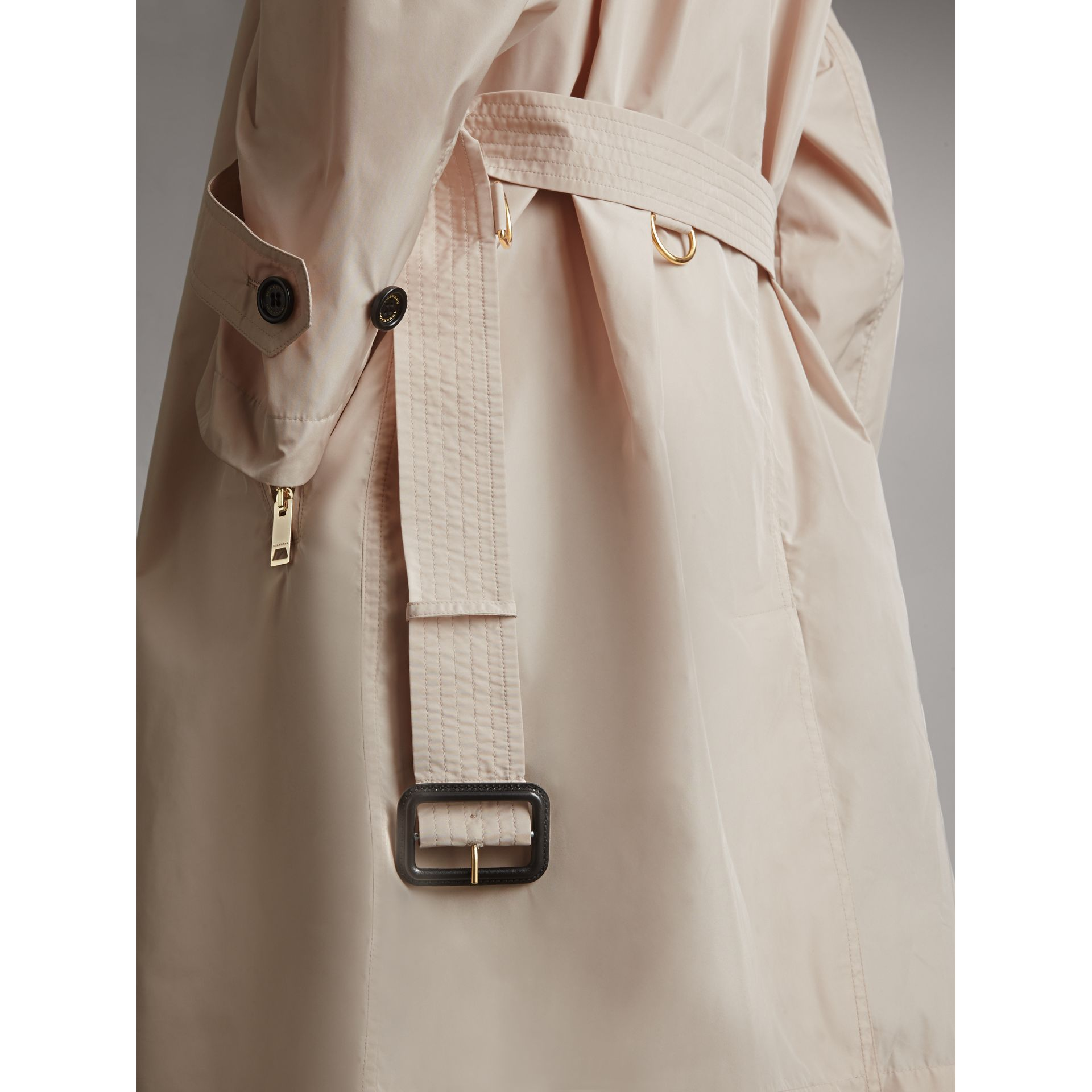 Lightweight Ruched Coat in Antique Taupe Pink - Women | Burberry Singapore - gallery image 2