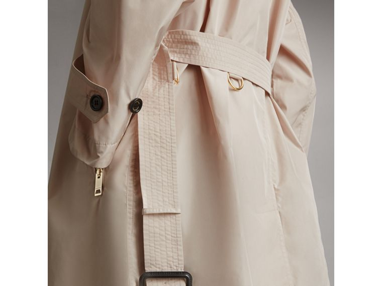 Lightweight Ruched Coat in Antique Taupe Pink - Women | Burberry Singapore - cell image 1