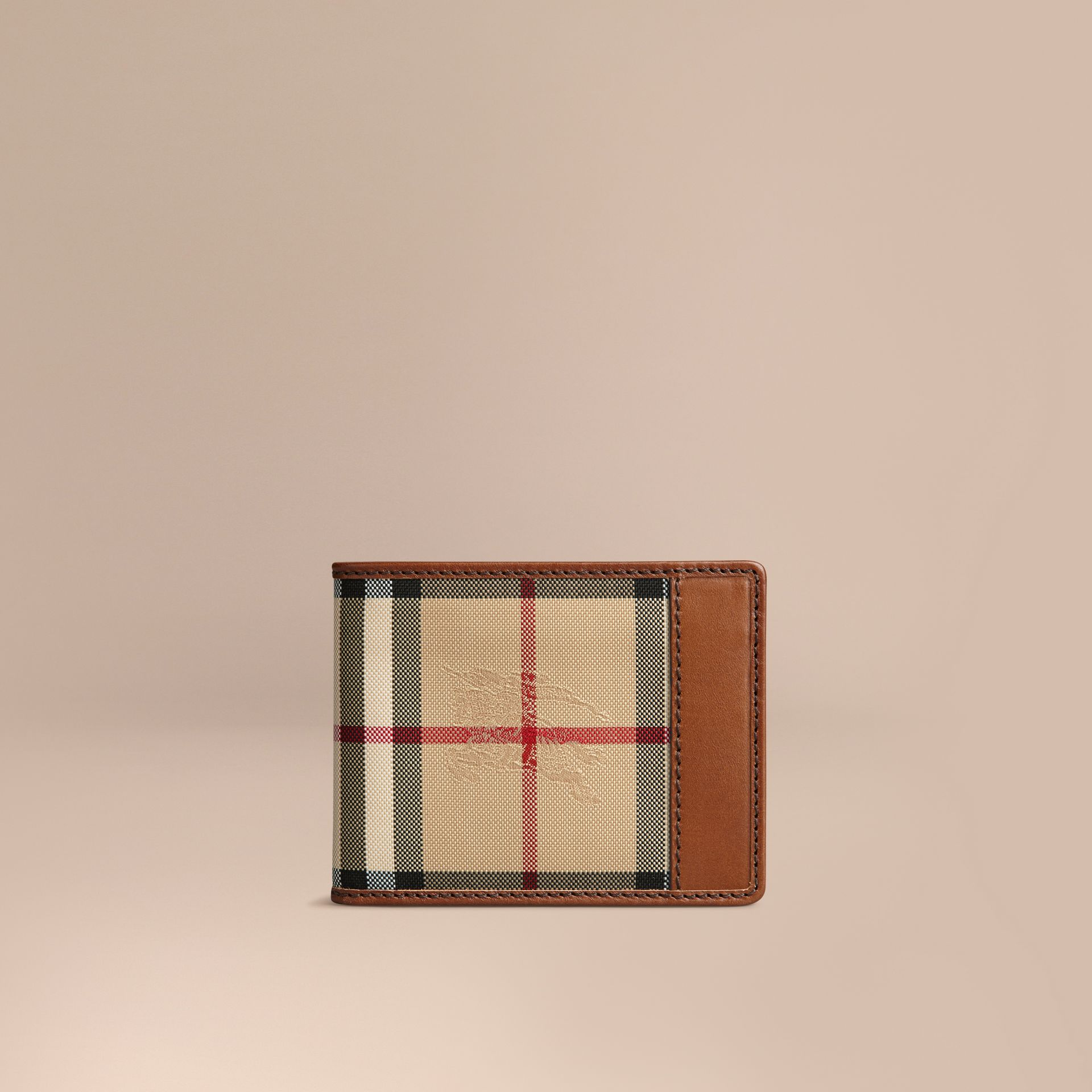 Horseferry Check Wallet Tan - gallery image 1