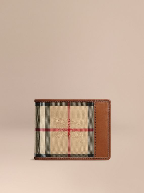 Horseferry Check Bifold Wallet in Tan